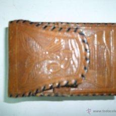 Antigüedades: PITILLERA DE CUERO. Lote 46552860