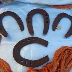 Antigüedades: ANTIGUAS Y VERDADERAS HERRADURAS DE LA SUERTE (LOTE DE 4 UNIDADES):. Lote 46554658