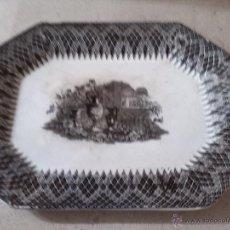 Antigüedades: ANTIGUA BANDEJA DE CARTAGENA, SELLADA, JARRONES EUROPEOS. Lote 46559249