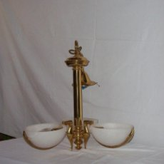 Antigüedades: LAMPARA DE COLGAR CON PLAFON EN ALABASTRO. Lote 46561432