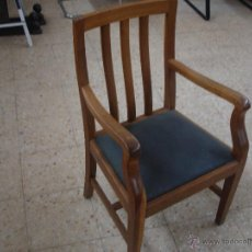 Antigüedades: SILLÓN DE DESPACHO HAYA. Lote 46566194