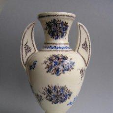 Antigüedades: JARRÓN SIGLO XVIII . LOZA ESMALTADA . DECORACIÓN VITRATTO. MUY BELLO E INTERESANTE.. Lote 46576324