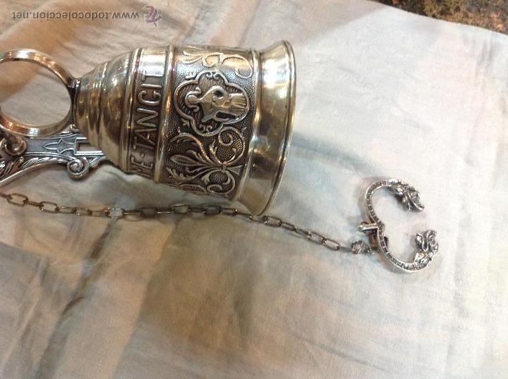 Antigüedades: campana de brobce plateada - Foto 2 - 46591312