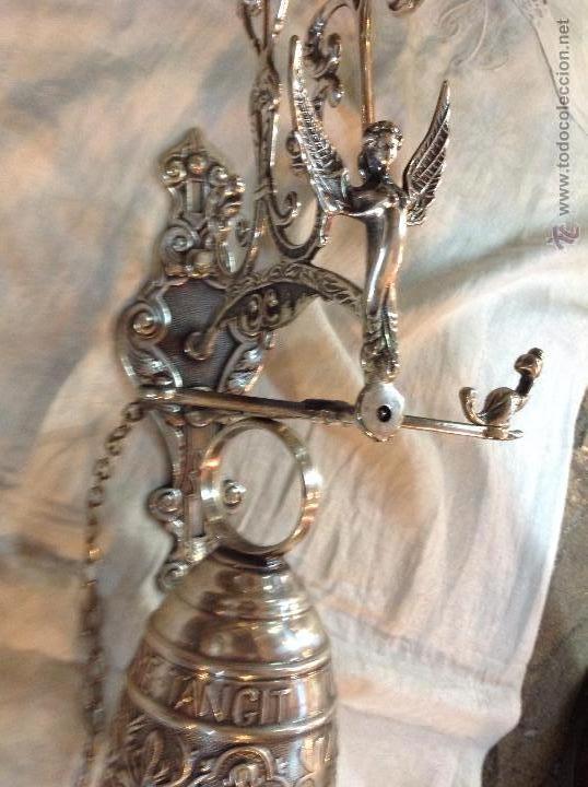 Antigüedades: campana de brobce plateada - Foto 4 - 46591312