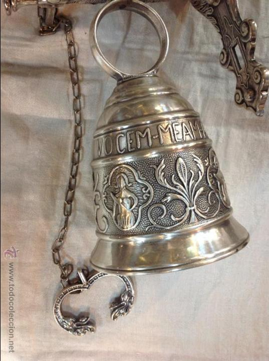 Antigüedades: campana de brobce plateada - Foto 7 - 46591312