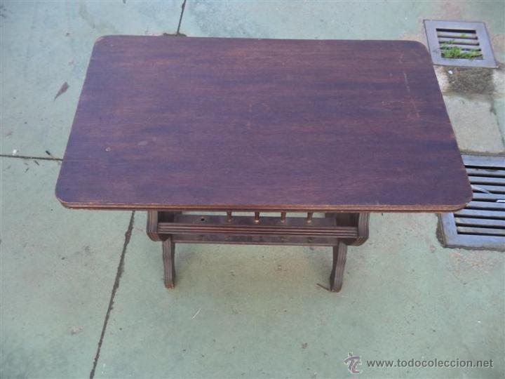 Antigüedades: mesa revistero madera - Foto 2 - 46598986