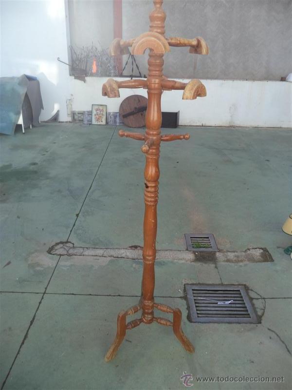 PERCHERO DE MADERA DE PIE (Antigüedades - Muebles Antiguos - Auxiliares Antiguos)