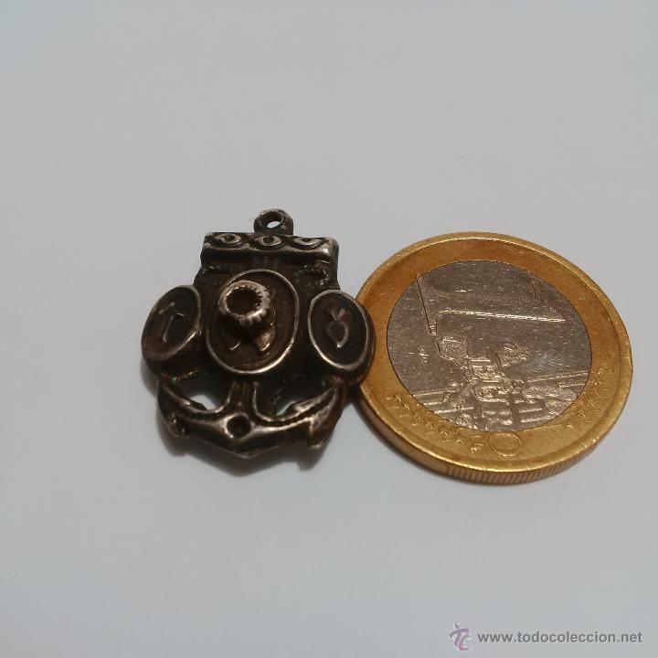 Antigüedades: ANTIGUA MEDALLA RELICARIO DE PLATA CON MICROFOTOGRAFIA - Foto 2 - 150238218