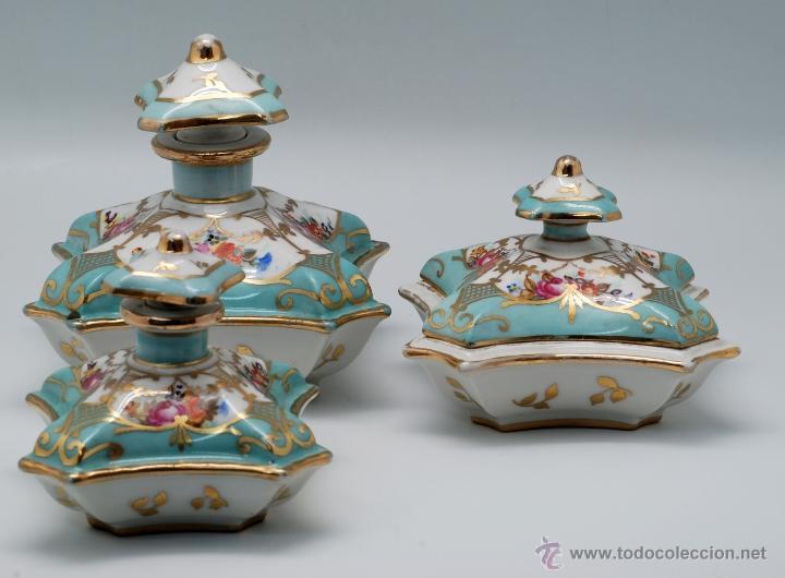 Juego de tocador en porcelana con marcas de sev comprar for Marcas de porcelana