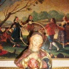 Antigüedades: ANTIGUA ESTATUA DE LA VIRGEN MARIA. Lote 46605138