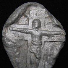 Antigüedades: PLACA CRISTO CRUCIFICADO. Lote 46609045