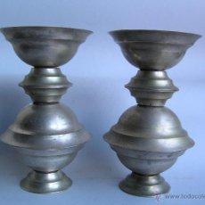 Antigüedades: LAMPARITAS VOTIVAS DE ALTAR. MARIPOSERAS APILABLES . JUEGO COMPLETO DE 6 UNIDADES.. Lote 46617053