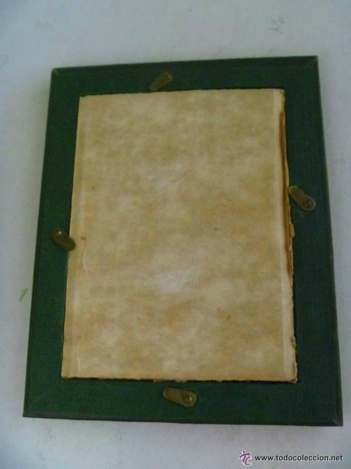 Antigüedades: ANTIGUO MARCO . CON SU CRISTAL ORIGINAL .......... 12 x 16 cm. - Foto 2 - 46629806