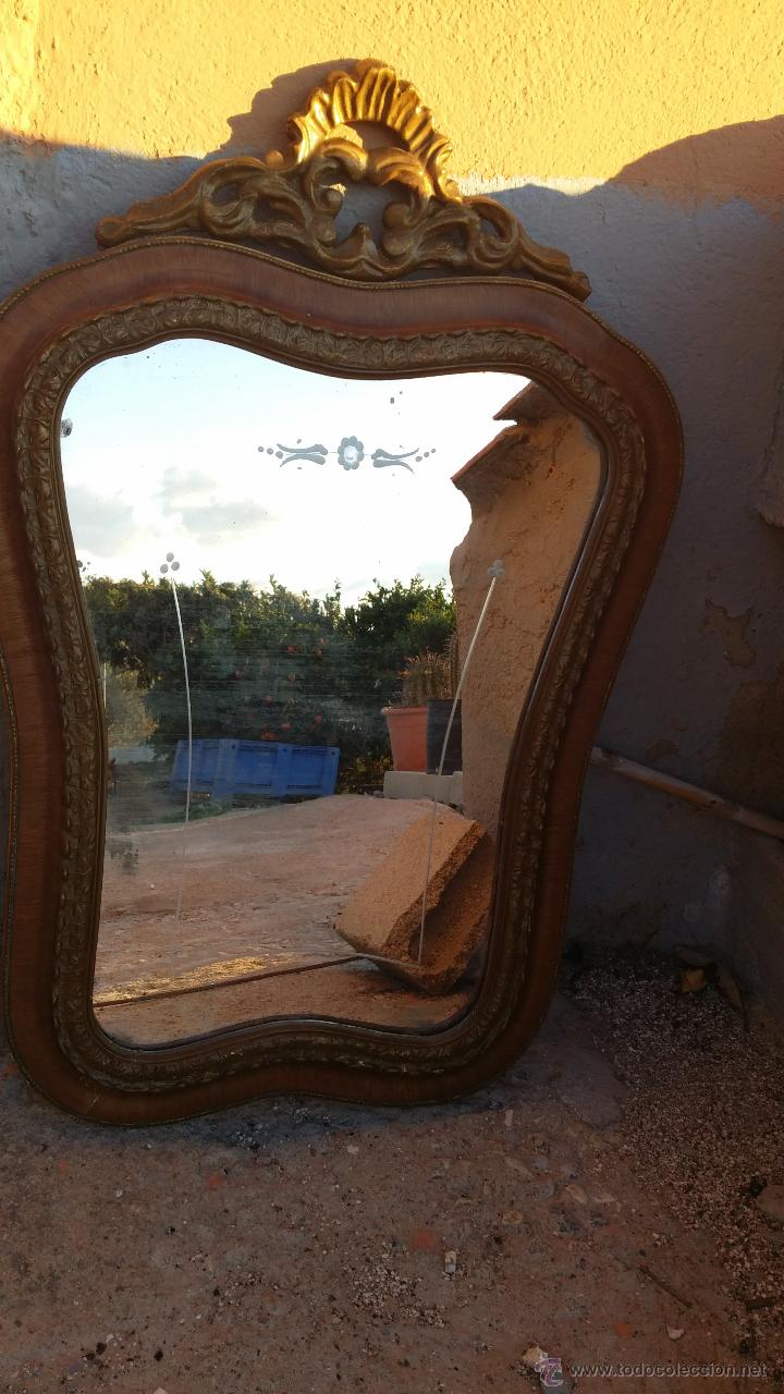 Antigüedades: antiguo espejo, estilo isabelino - Foto 2 - 46631238