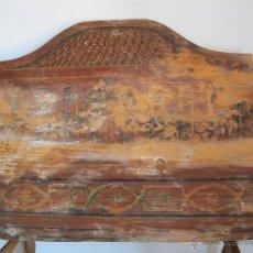 Antigüedades: ORIGINAL CABECERA DE CUNA DEL S. XIX. Lote 46633907