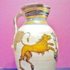 Antigüedades: GRAN JARRA DE CERÁMICA ESMALTADA DE PUENTE DEL ARZOBISPO, HACIA 1800.. Lote 46638714