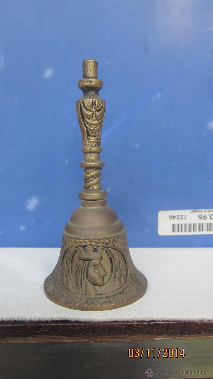 Antigüedades: CAMPANA DE BRONCE GRABADA - Foto 2 - 46641402