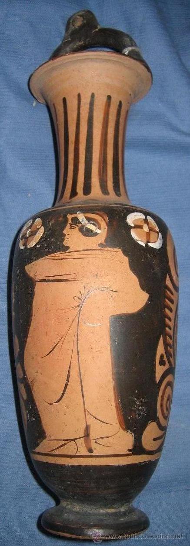 ARQUEOLOGÍA : ÁNFORA GRIEGA DE FIGURAS ROJAS (CAMPANIA, SIGLO IV A. DE C.) (Antigüedades - Porcelanas y Cerámicas - Otras)