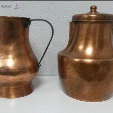 Antigüedades: PRECIOSAS Y ANTIGUAS JARRAS DE COBRE.. Lote 46648719