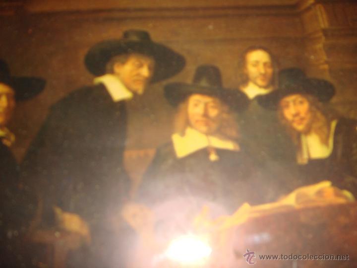 Antigüedades: Antiguo cuadro / marco Porta fotos cuadrito con lamina del pintor Rembrand años 40 - Foto 2 - 46655512