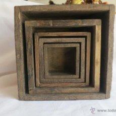 Antigüedades: MEDIDAS ANTIGUAS PORTUGESAS DE 1/8 A DOS LITROS. Lote 46671818