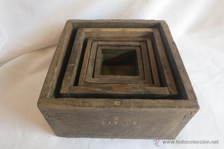 Antigüedades: Medidas antiguas Portugesas de 1/8 a dos litros - Foto 2 - 46671818
