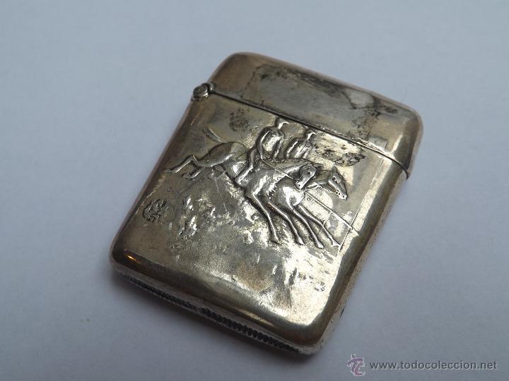 Antigüedades: Cerillera antigua. Cerillera plata. Pieza plata antigua. - Foto 3 - 46676100