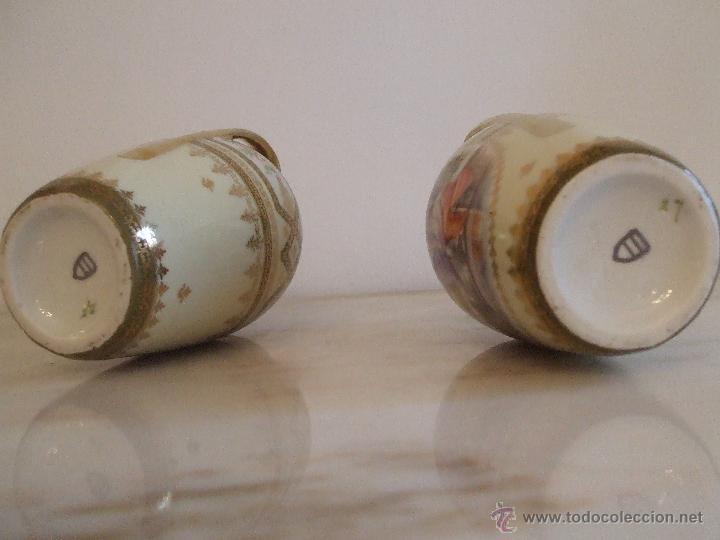 Antigüedades: PAREJA DE JARRONES- PORCELANA DE VIENA - Foto 3 - 46681440