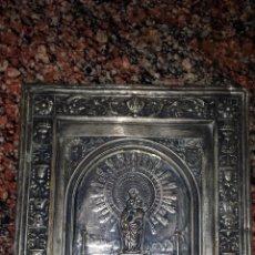 Antigüedades: VIRGEN DEL PILAR. PLACA PLATEADA.. Lote 46683463