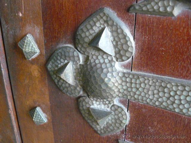Antigüedades: MAGNIFICA PUERTA DE CAOBA SIGLO XIX - Foto 4 - 46703184