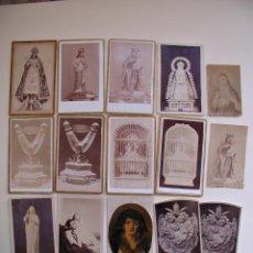 Antigüedades: 15 FOTOS CARTAS DE VISITA RELIGIOSAS. ORIGINALES. Lote 46720446