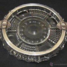 Antigüedades: CENICERO CRISTAL Y PLATA.CONTRASTES.. Lote 46721502