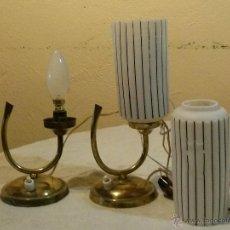 Antigüedades: LAMPARA MESA - 2 LAMPARAS DE MESITA DE NOCHE. Lote 46724604