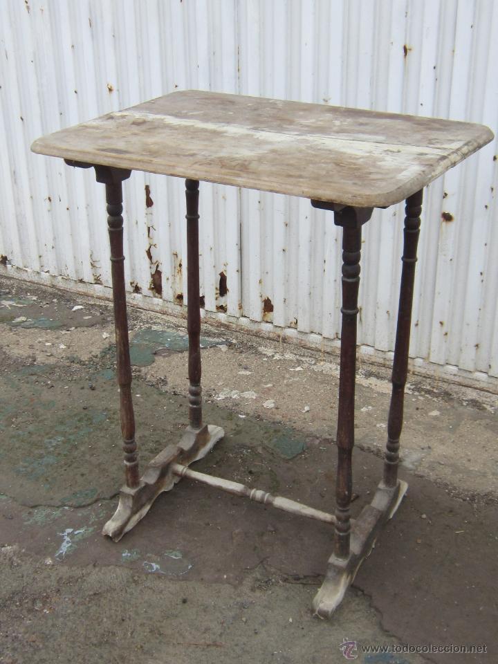 Mesa en madera de nogal para restaurar comprar mesas for Antiguedades para restaurar