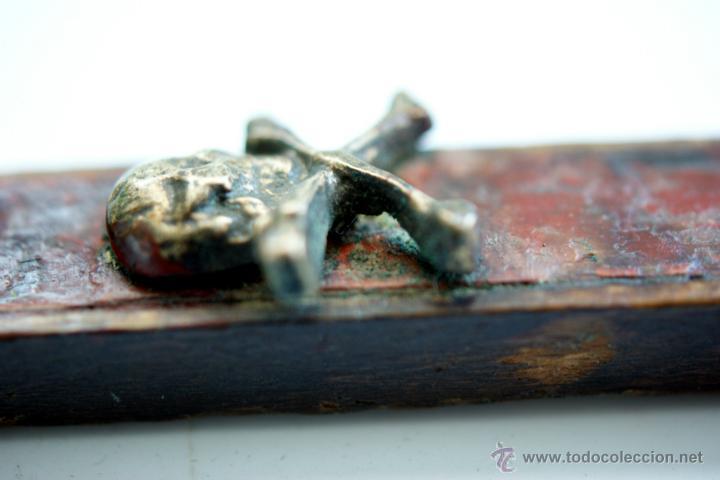 Antigüedades: CRUCIFIJO DE BRONCE SOBREDORADO - S. XVII - Foto 11 - 46755538