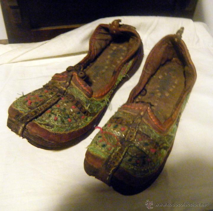 Orientales Bord En Antiguos Cuero Zapatos Babuchas Comprar 76gybf