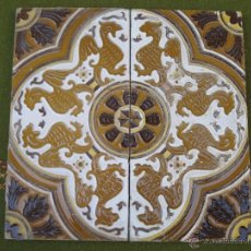 Antigüedades: LOTE DE DOS AZULEJOS ANTIGUOS DE SEVILLA / TRIANA.. Lote 46757416