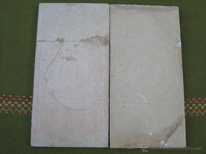 Antigüedades: LOTE DE DOS AZULEJOS ANTIGUOS DE SEVILLA / TRIANA. - Foto 2 - 46757416