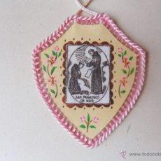 Antigüedades: ESCAPULARIO DE LOS AÑOS 50 DE 4,5 CMS DE ALTO CON DIBUJOS. Lote 46767625