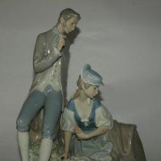 Antigüedades: GRUPO LLADRO- ESCENA ROMANTICA Y CAMPESTE- 28 CM LARGO Y 29 ALTO- VER FOTOS. Lote 46785564