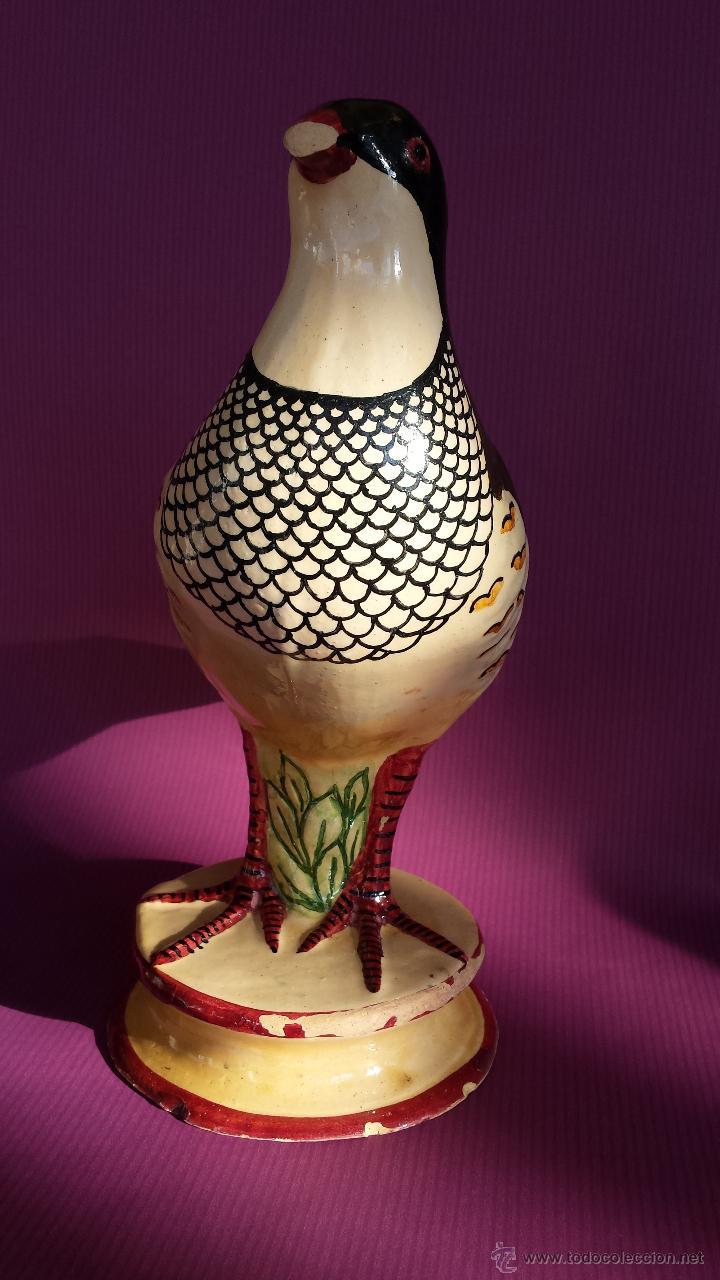 Antigüedades: ANTIGUA PERDIZ DE ALCORA.SALSERA. MARCAS EN LA BASE. - Foto 8 - 46799345