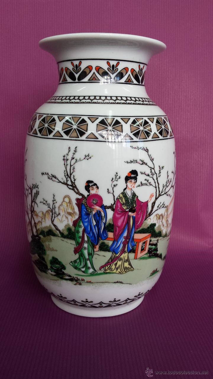 JARRON. TIPO CHINO FABRICACION NACIONAL (Antigüedades - Porcelanas y Cerámicas - Alcora)