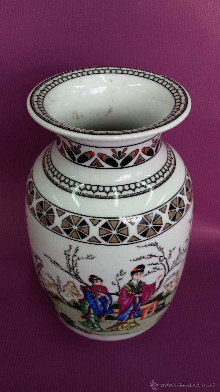 Antigüedades: JARRON. TIPO CHINO FABRICACION NACIONAL - Foto 2 - 57719507