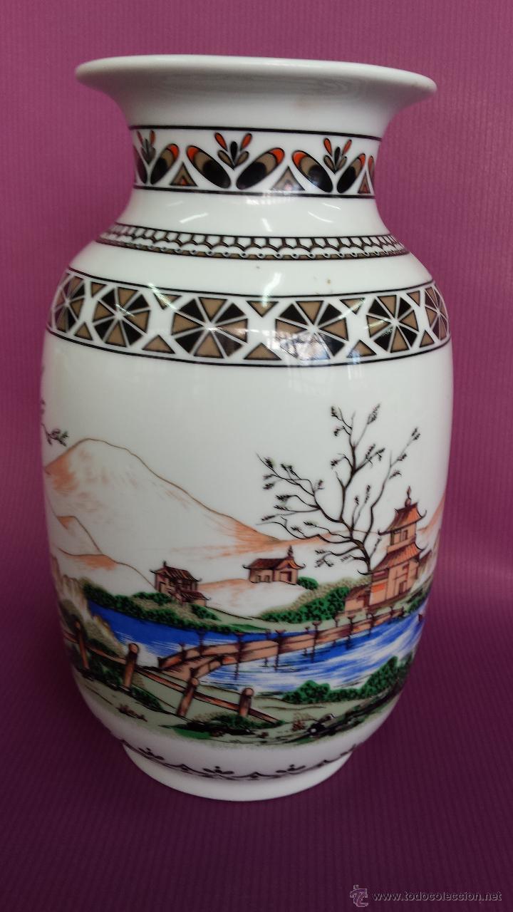 Antigüedades: JARRON. TIPO CHINO FABRICACION NACIONAL - Foto 3 - 57719507