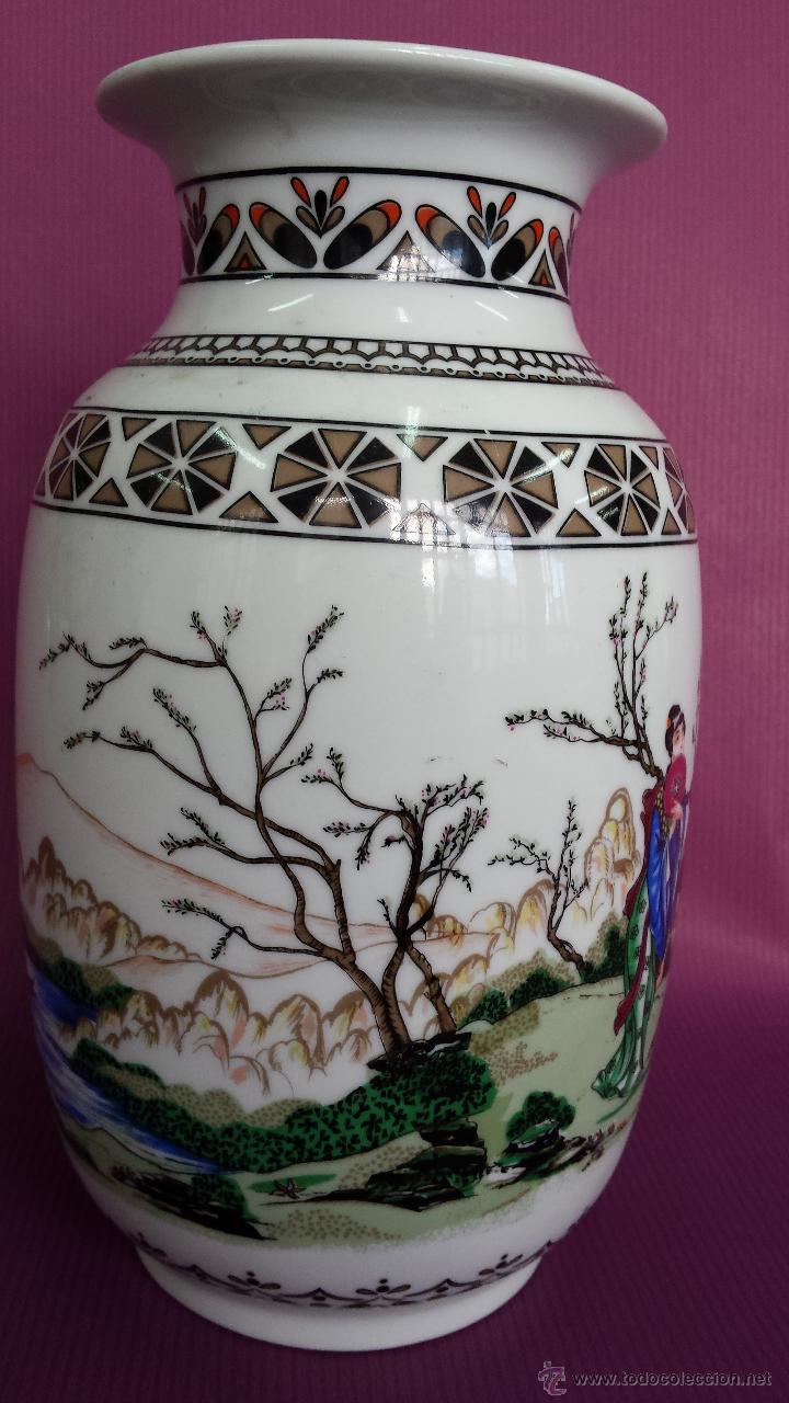 Antigüedades: JARRON. TIPO CHINO FABRICACION NACIONAL - Foto 7 - 57719507