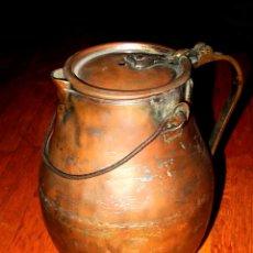 Antigüedades: ANTIGUA ACEITERA DE COBRE. 30 CM ALTURA. Lote 46809237