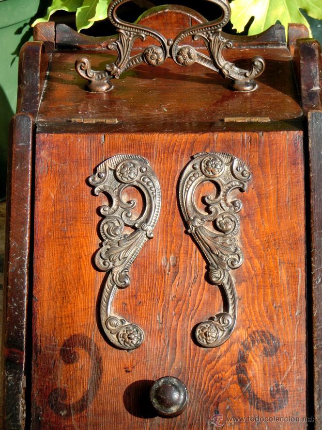 Antigua carbonera de madera asa y aplicaciones comprar for Muebles auxiliares clasicos madera