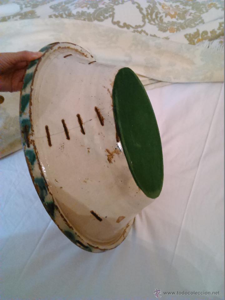 Antigüedades: LEBRILLO EN CERÁMICA ESMALTADA TRIANA. SIGLO XIX. LAÑADO. FIGURA DEL CONEJO. - Foto 4 - 45869685