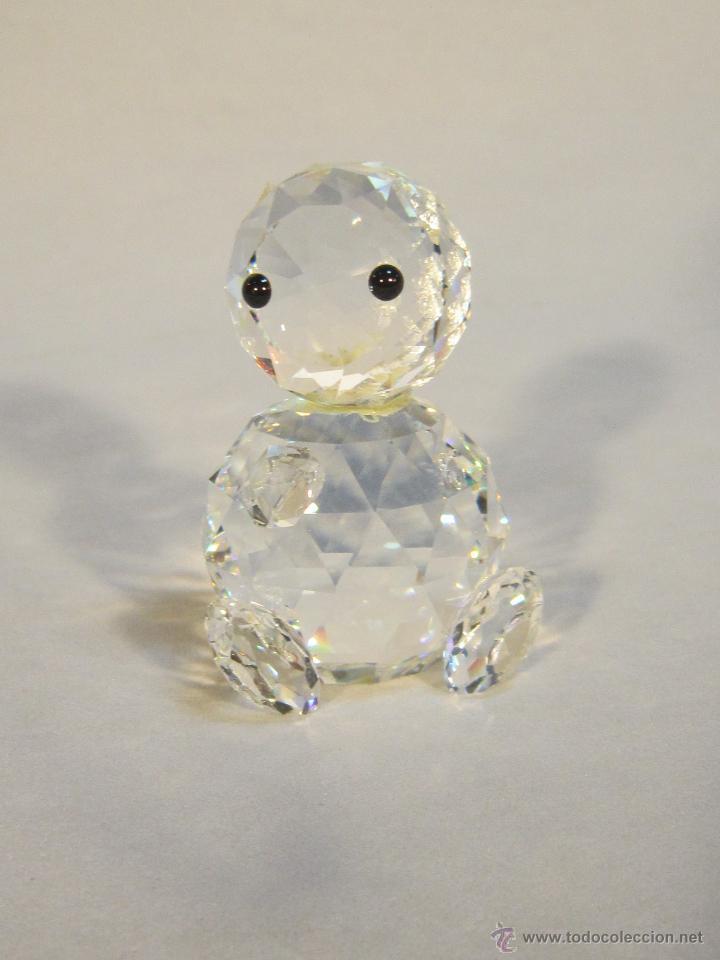 FIGURA SWAROVSKY OSO MINI SILVER CRYSTRAL (Antigüedades - Cristal y Vidrio - Swarovski)