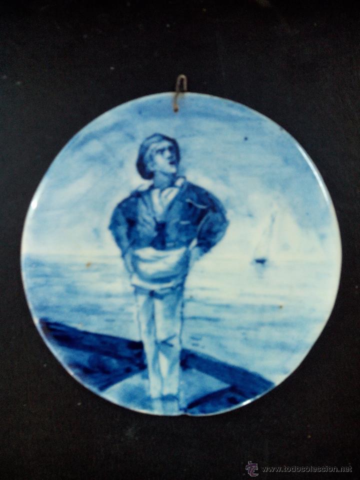 ANTIGUO PLATO DE CERAMICA (ALCORA) (Antigüedades - Porcelanas y Cerámicas - Alcora)